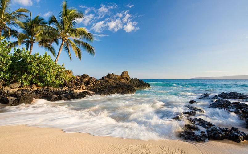 Legendarische reis naar Maui-beach