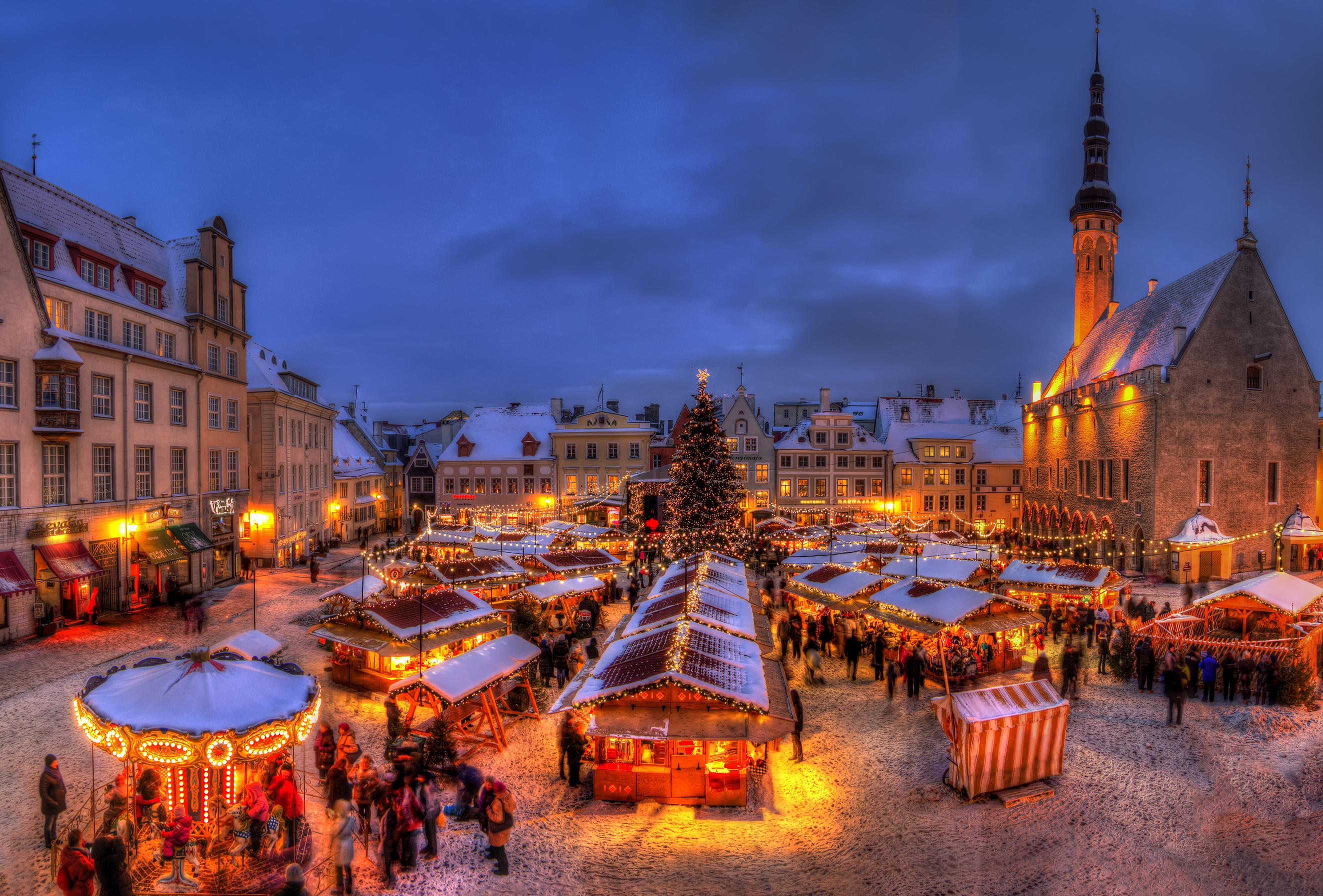 Kerstmarkt in Tallinn, Estland