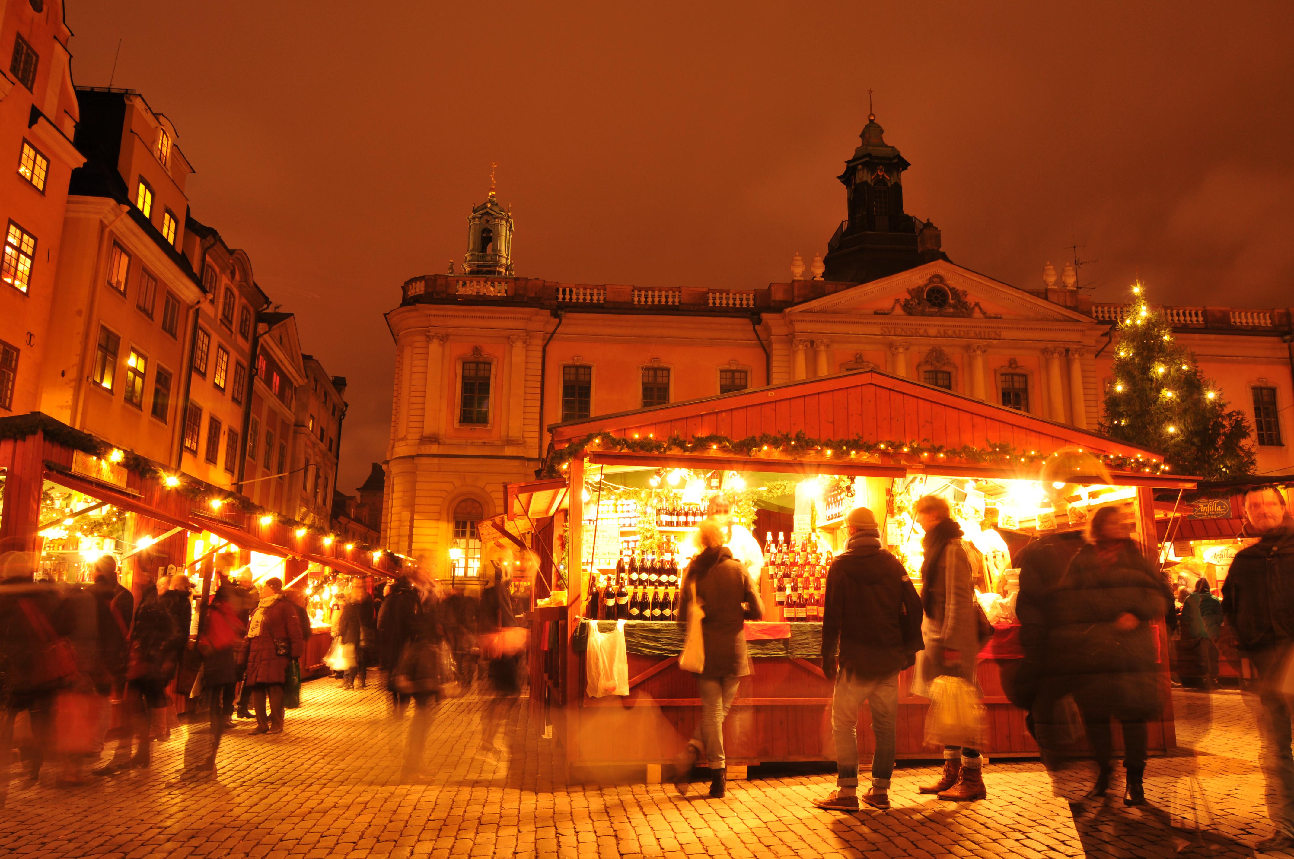 Kerstmarkt in Stockholm, Zweden