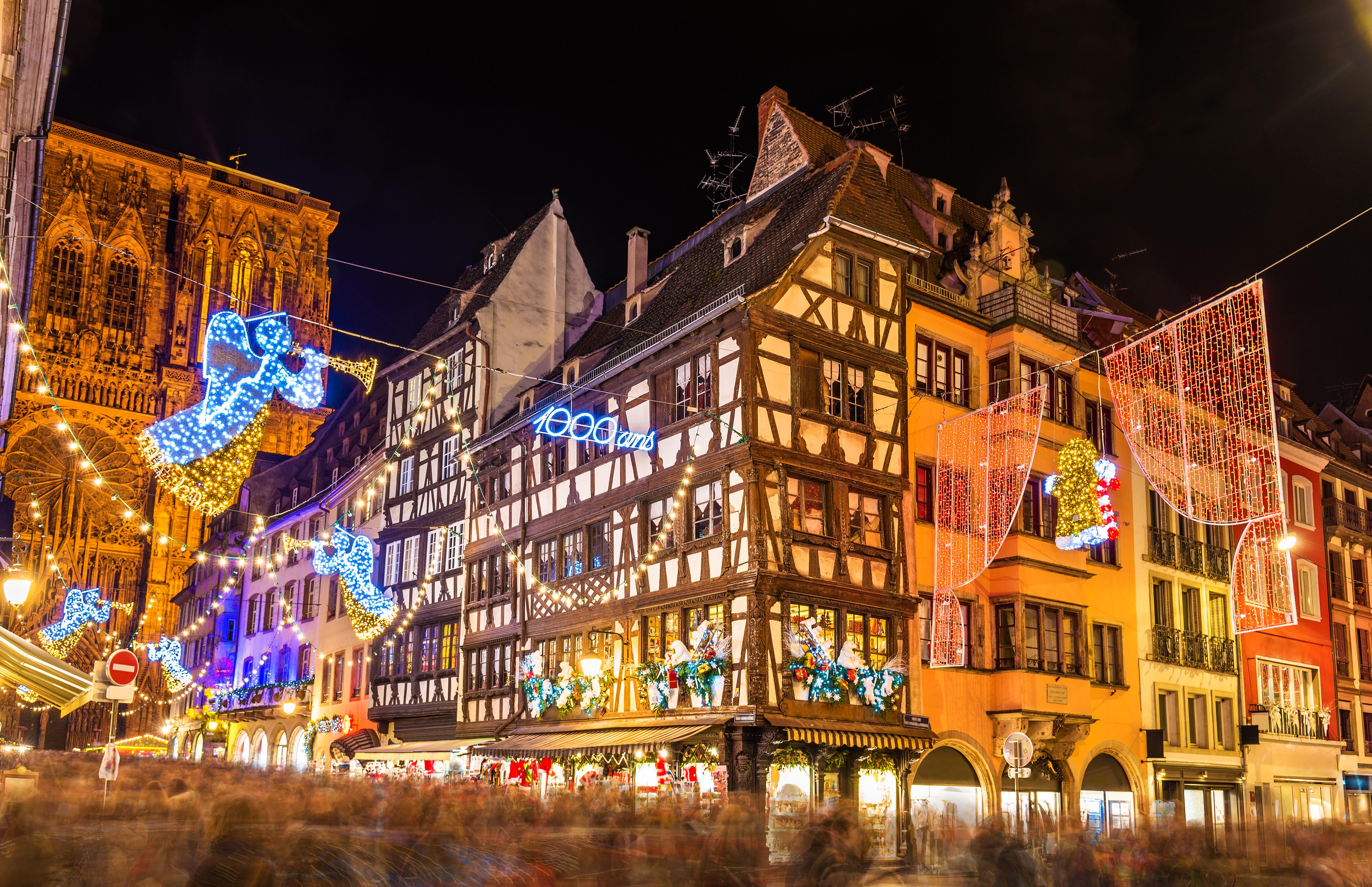Kerstmarkt in Straatsburg, Frankrijk