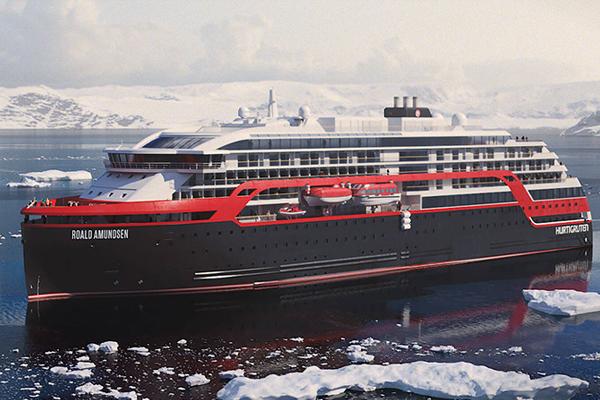 Het nieuwe ms Roald Amundsen
